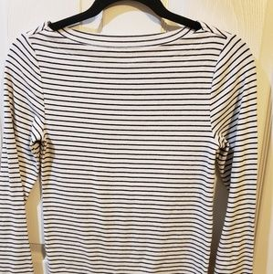 Stripped Black and White Knit Shirt
